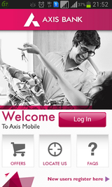 Axis Mobile app